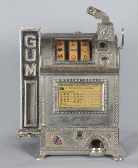 5¢ Burnham Gum Machine Works Slot Machine