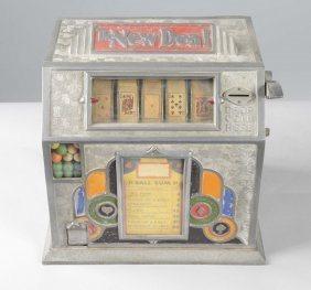 1¢ New Deal Ball Gum Poker Trade Stimulator