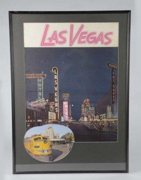 Las Vegas Union Pacific Railroad Travel Poster