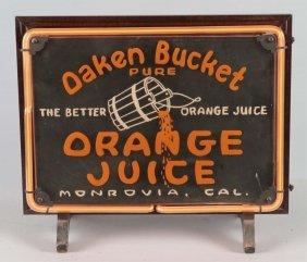 Oaken Bucket Orange Juice Neon Advertising Sign