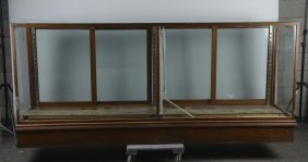 Large Wood & Glass Floor Display Case