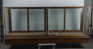 Large Wood  Glass Floor Display Case