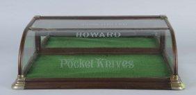 Wood & Glass Store Pocket Knife Display Case