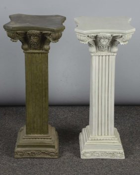 Lot Of 2: Floor Column Pedestal Stands