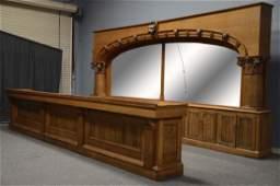 Antique Oak Saloon Front And Back Bar