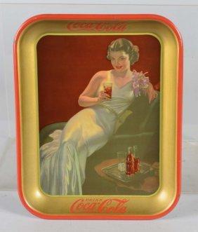 Coca Cola Rectangular Tin Serving Tray
