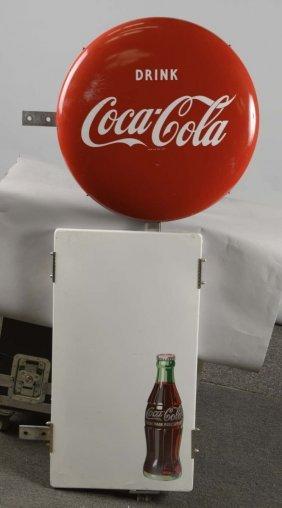 Coca Cola Porcelain Button & Panel Sign