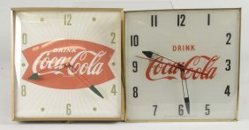 Lot Of 3: Lighted Coke & Peanut Advertising Pieces