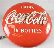 Coca Cola Button Neon Porcelain Sign