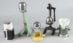 Lot Of 5: Countertop Juicers & Milkshake Mixer