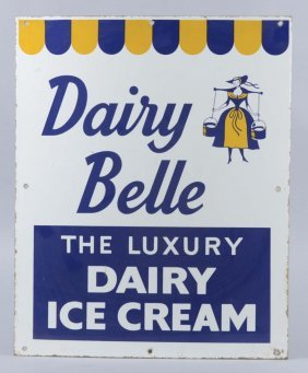 Dairy Belle Ice Cream Porcelain Sign