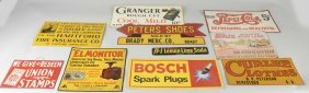 Lot Of 10: Tin Advertising Signs