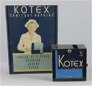 Lot Of 2 Kotex Machine  Paper Advertising Sign