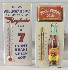 Lot Of 4: Tin Advertising Thermometer Signs