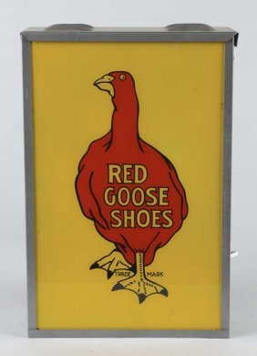 Red Goose Shoes Light Up Sign
