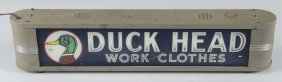 Duck Head Work Clothes Light Up Advertising Sign