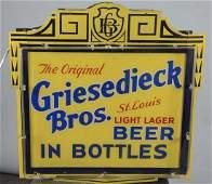 Griesedieck Bros Beer Reverse Painted Lighted Sign