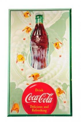 1954 Large Vertical Coca - Cola Poster.