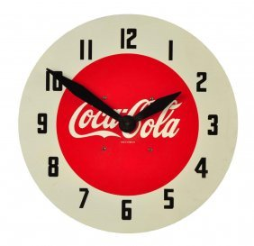 Rare Lackner Coca - Cola Electric Wall Clock.