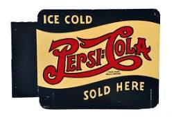 1940s Pepsi  Cola Tin Flange Sign
