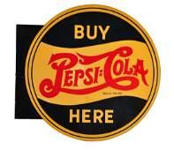 1940 Pepsi  Cola Tin Flange Sign