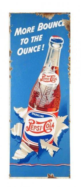 1940's Pepsi - Cola Porcelain Sign.