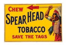 1910 - 1915 Spear Head Tobacco Cardboard Sign.