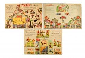 Lot Of 3: 1927 - 1932 Coca - Cola Miniatures.