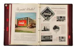 1930's Coca - Cola Large Advertising Manual.