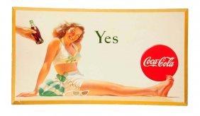 1946 Bathing Girl Cardboard Poster.
