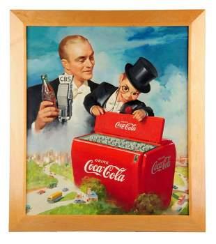 Ca. 1949 Coca - Cola Original Oil Painting.