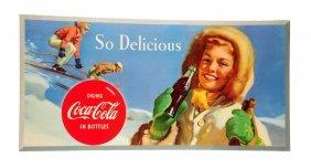 1954 Coca - Cola Large Ski Girl Poster.
