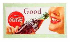 1957 Coca - Cola Cardboard Poster.