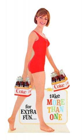 1960's Coca - Cola Cardboard Cutout Easel.