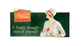 Rare 1930's Large Coca - Cola Original Art.