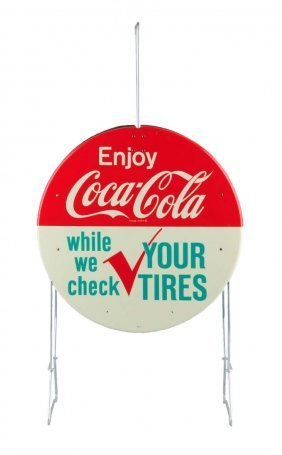 Early 1960's Coca - Cola Tire Rack Display.