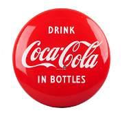1950s Coca  Cola Porcelain Button Sign
