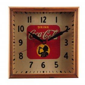 1939-40 Lackner Coca - Cola Electric Clock.