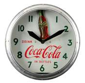 Ca. 1948 Coca - Cola Rocking Bottle Neon Clock.