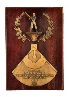 1954 Unusual Coca - Cola Bottler Award.