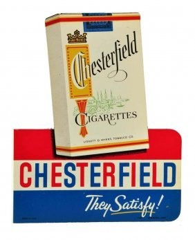 1950's Chesterfield Cigarettes Tin Flange Sign.
