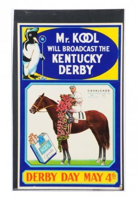 1930's - 1940's Kool Cigarettes Poster.