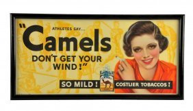 1935 Camel Cigarettes Trolley Car Sign.