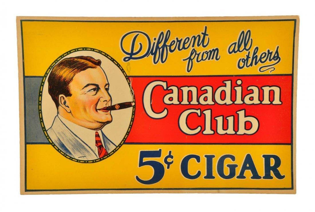 1920's - 30 Canadian Club Cigar Sign.