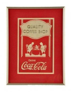 1930's Coca - Cola Menu Cover.