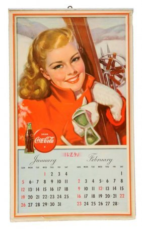 1947 Complete Coca Cola Calendar.