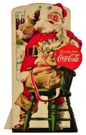 1948 Coca - Cola Small Santa Cut Out.