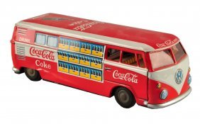 1960's Coca - Cola Toy Delivery Van.