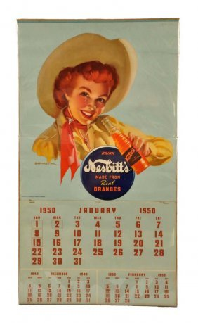 1950 Nesbitt's Complete Calendar.