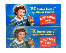 Lot Of 2: Rc Cola 1950's Cardboard Posters.